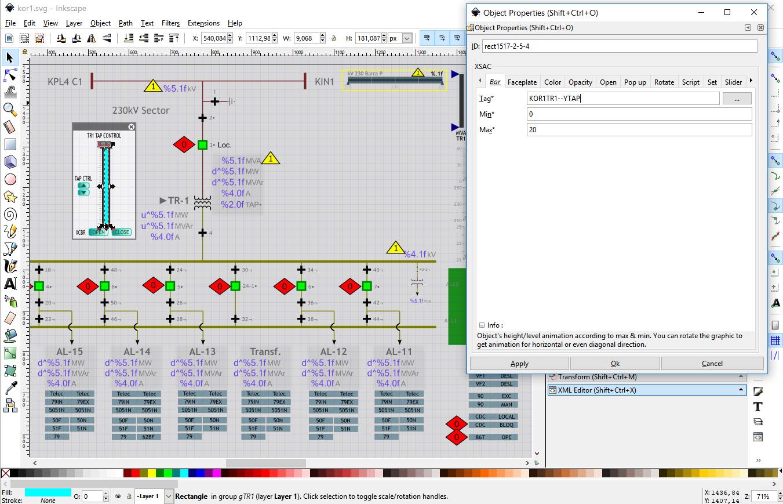 SCADAvis io Synoptic Editor format_paint